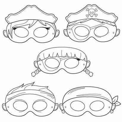 Pirate Masks Mask Printable Coloring Pirates Costume