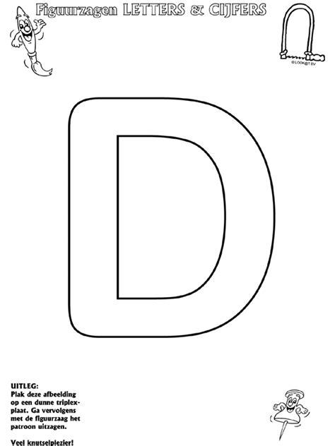 Kleurplaat E by Letter D Figuurzagen Knutselpagina Nl Knutselen