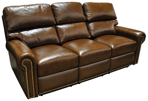 Leather Reclining Sofa From Wellington's