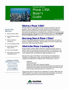 Phase 1 Environmental Site Assessment Buyer U0026 39 S Guide