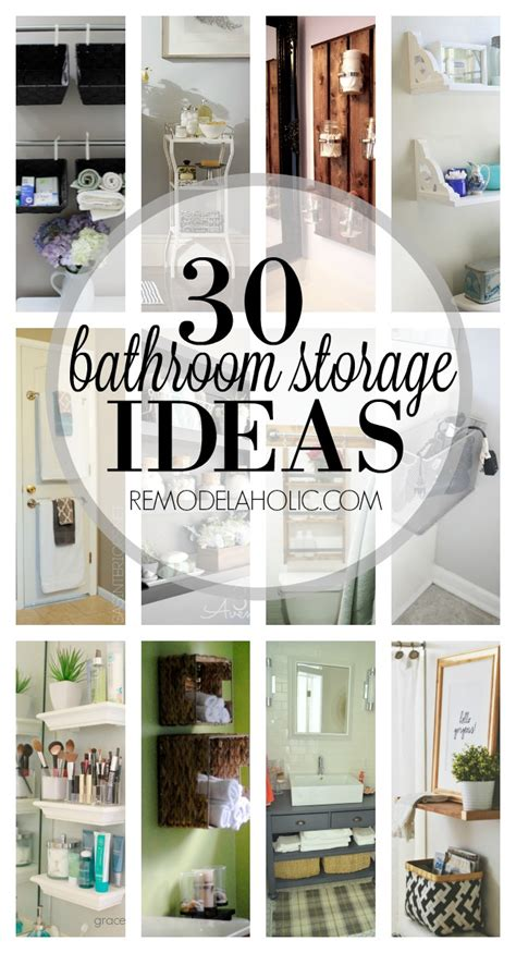 remodelaholic  bathroom storage ideas