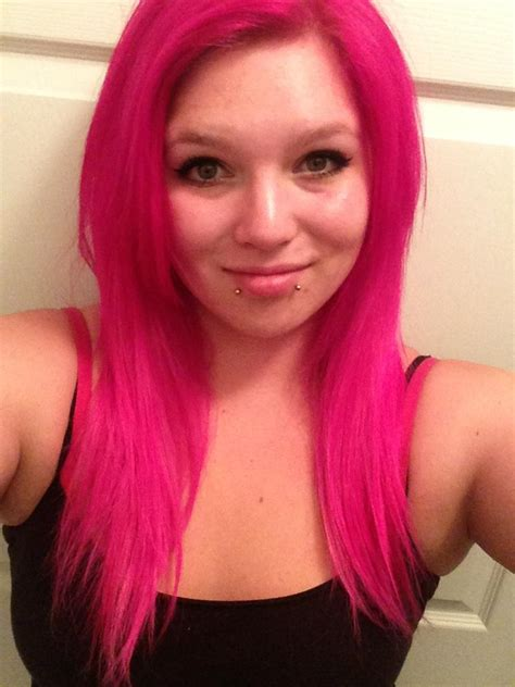 dyed  hair pink  punky colours flamingo pink