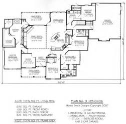 4 bedroom one story house plans one story four bedroom house plans story 4 bedroom 3 5 bathroom 1 dining room 1 exercise
