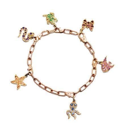dodo pomellato charms dodo s pomellato rainbow charm bracelet jewelry