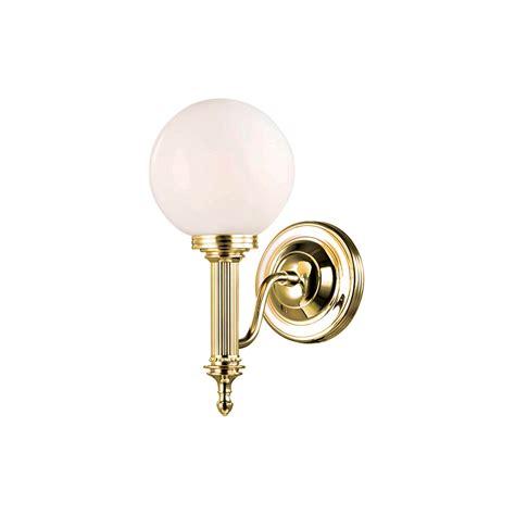 aubrey bathroom 4lt wall light in polished brass