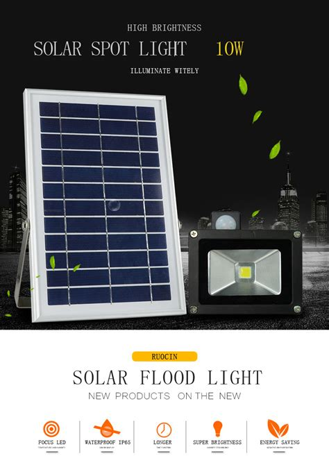 lower price of 10w waterproof led solar activated motion