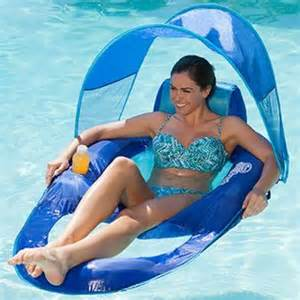 swimways 13022 float recliner with canopy