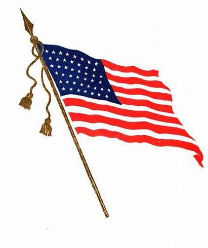 Flag American Cartoon Background Faded Clipart Clip