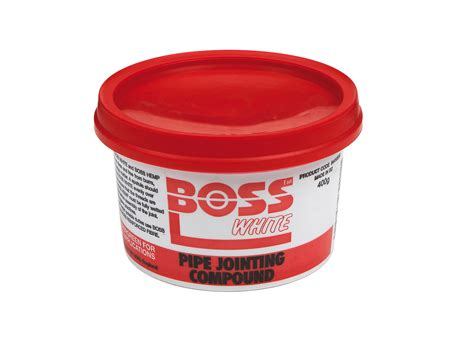 boss white pipe jointing compound  fixings