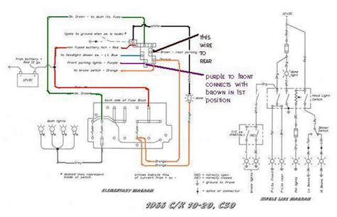 66 chevelle headlight switch wiring diagram parking lights