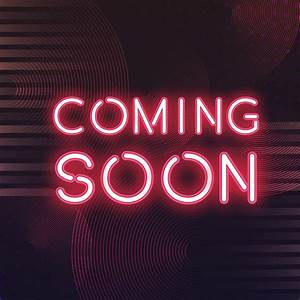 Red, Coming, Soon, Neon, Icon, Vector