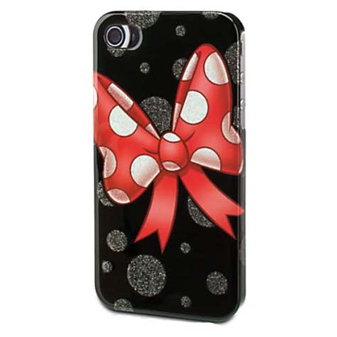 disney iphone  case minnie mouse bow black glossy