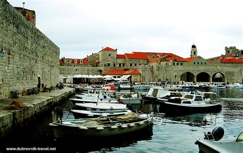 Port Boat by Boats In Port Of Dubrovnik