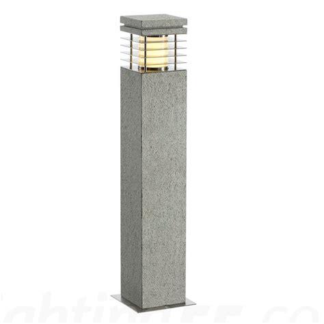 arrock granite 70 outdoor bollard light salt pepper by