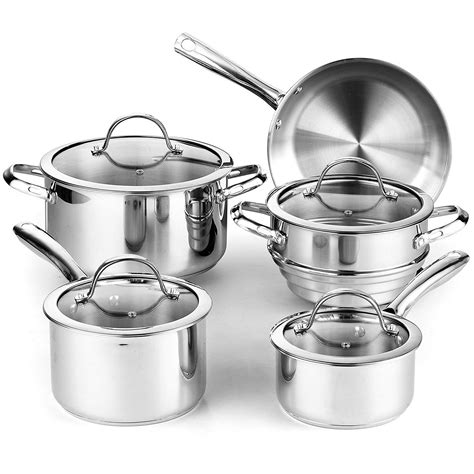 amazoncom cooks standard   piece classic stainless