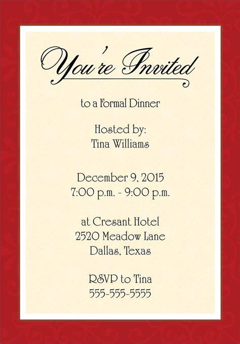 Images For > Corporate Dinner Invitation Dinner