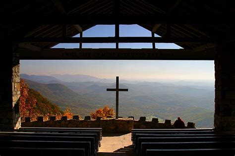 pretty place tennessee wow    church    wall overlooking mountains