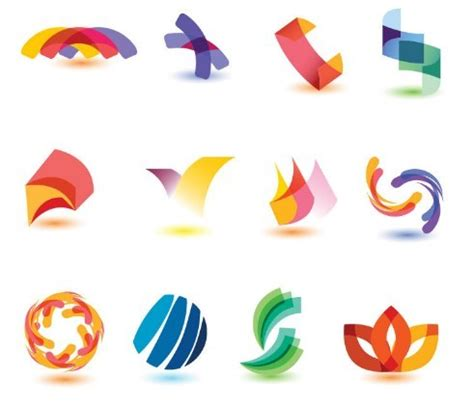 free colorful abstract symbol logo designs vector titanui