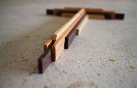 diy wooden cross plans  inches tall etsy