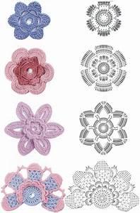 Crochet Flower Diagram