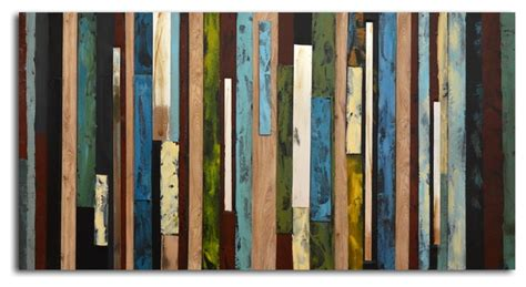 save to the uttermost vertical collage painted canvas wall modern