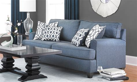 Stain Resistant Sofa by Navy Blue Stain Resistant Track Arm Sofa Haynes Furniture