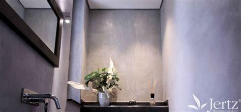 Bad Wandgestaltung Ohne Fliesen by Ein Badezimmer Ohne Fliesen Mit Marmorputz Und Zementboden