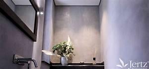 Badezimmer Ohne Fliesen : ein badezimmer ohne fliesen mit marmorputz und zementboden wandgestaltungen ~ Markanthonyermac.com Haus und Dekorationen