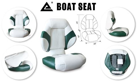 Green Bass Boat Seats by Leader Accessories Bass Boat Seat Fishing Chair Green White
