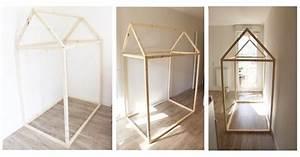 Lit Cabane 90x190 : construction lit de cabane fabriquer lit cabane api diy ~ Teatrodelosmanantiales.com Idées de Décoration