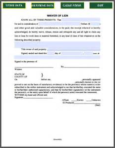 Free Lien Waiver Release Form Template