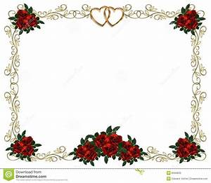 red roses border wedding invitation stock photos image With wedding invitation flower clipart free