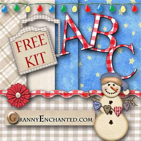 granny enchanted s blog free christmas light digi scrapbook kit