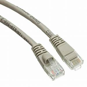 Edragon 1 5 U0026 39  Cat5e Gray Ethernet Patch Cable  Snagless  Molded