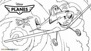 Pixar Planes Coloring Pages Disney Dusty Car Pictures