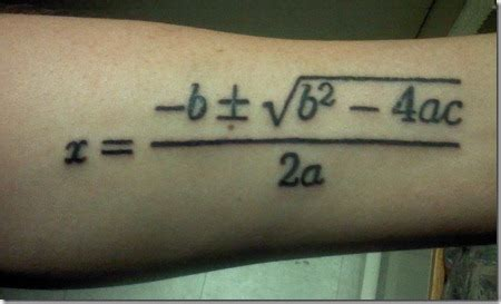 equation tattoos  forearm