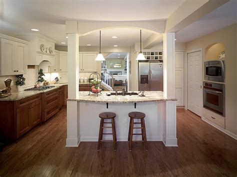 kitchen islands with posts 7 creative ideas for kitchen islands and peninsulas 5278