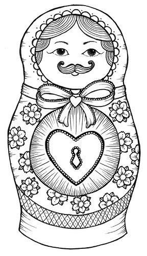 Gallery For > Matryoshka Tattoo Drawing | babushka