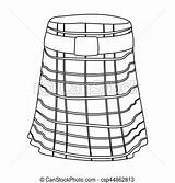 Kilt Outline Scotland Icon Country Symbol Vector Isolated Background Illustration Drawing Line Ness Loch Clip Monster Clipart Drawings sketch template