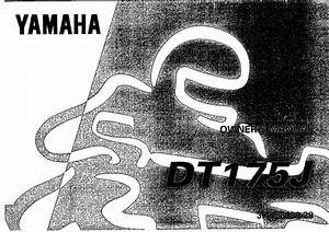 Yamaha Dt175 J 1997 Owner U2019s Manual  U2013 Pdf Download