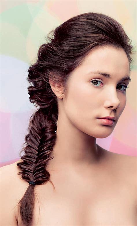 loose fishtail pony  medium length hair fmagcom