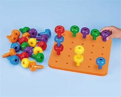 Lakeshore Learning Pegs Toys Preschool Pegboard Jumbo