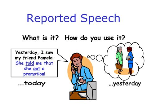 what is the use of 191 c 243 mo aprender el reported speech