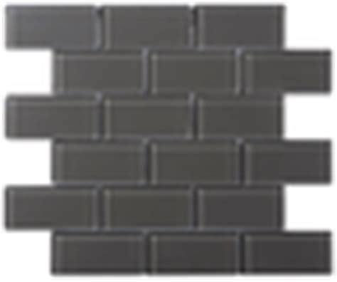 charcoal gray glass 2x4 mosaic subway tile