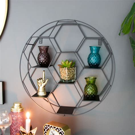 black metal  wall shelf melody maison