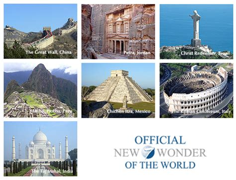 a personal what are the seven wonders of the world