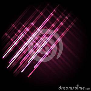 Abstract Neon Pink Background With Lines Stock Vector