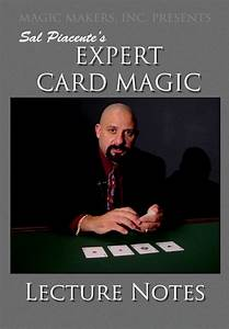 Sal Piacente's Expert Card Magic Lecture Notes 2 DVD Set