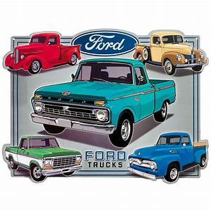 Garage Ford Montgeron : ford trucks collage embossed garage tin sign vintage style garage decor 17 x 13 ebay ~ Gottalentnigeria.com Avis de Voitures