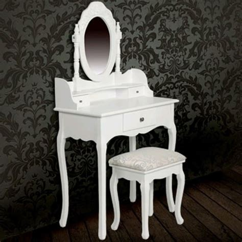 schminktisch mit spiegel und hocker der schminktisch wei 223 mit spiegel und hocker shop vidaxl de